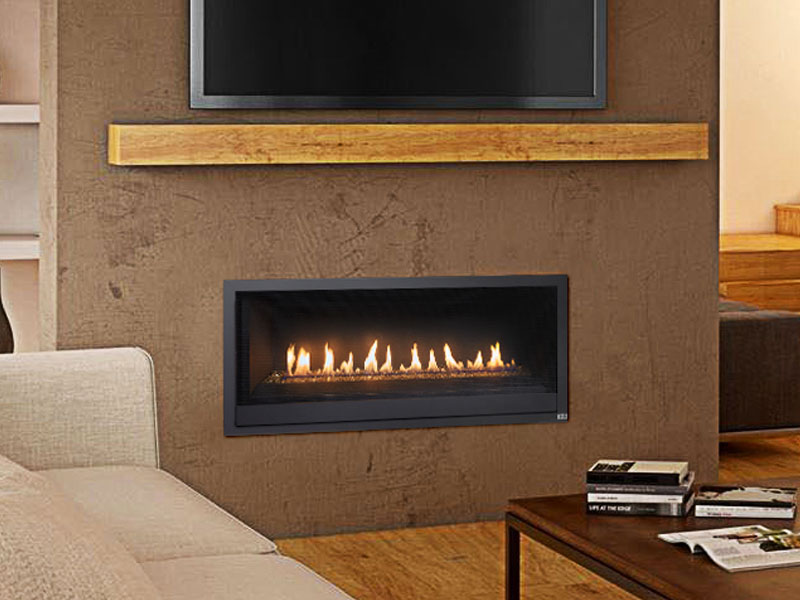 Linear Gas Fireplace >> Fireplacex Probuilder 42 Linear Gas Fireplace Energy Savers