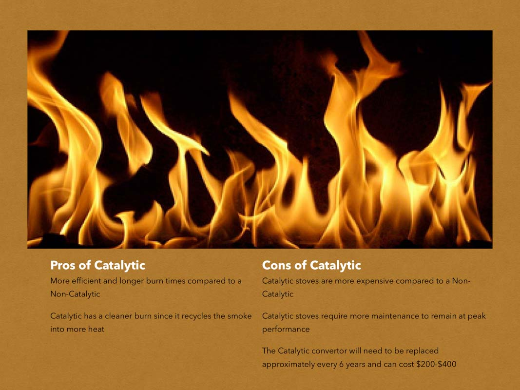 Pros and cons of catalytic wood burning stove